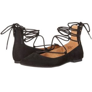 BC Lace Up Ankle Flats